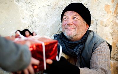 Novoletna darila za brezdomce