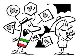 karikatura-italijanscina-CEFR-lestvica