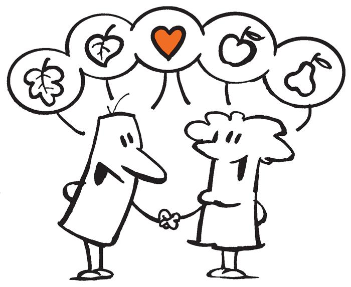 karikatura medsebojno razumevanje