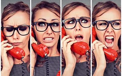 Kako v telefonskem pogovoru pomiriti razburjeno stranko